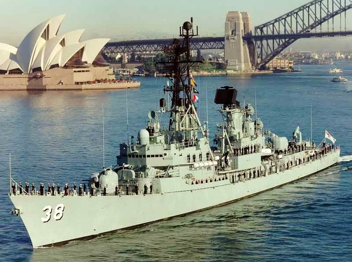 Nameplate HMAS Perth 3d printed Perth (modified Charles F. Adams) class destroyer HMAS Perth.