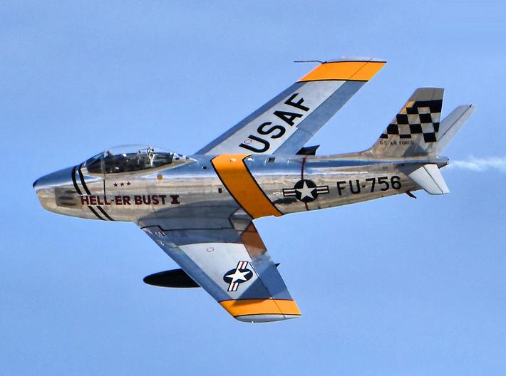 Nameplate F-86F Sabre 3d printed