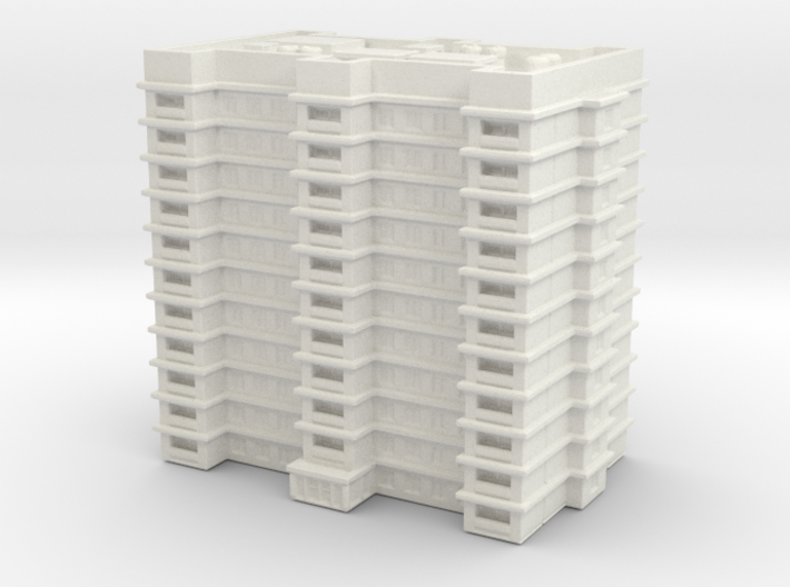 Residential Building 02 1/1000 3d printed