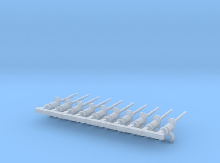 10 x Bayonette Sword (tbn) 3d printed