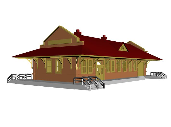 Sterling City Station Texas 3d printed 3D Drawing