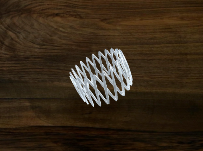 Turk's Head Knot Ring 2 Part X 21 Bight - Size 19. 3d printed