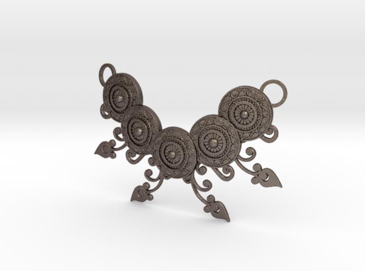 Ornamental Floral Necklace 3d printed