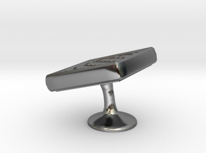 Metal Cufflink ver.3 3d printed