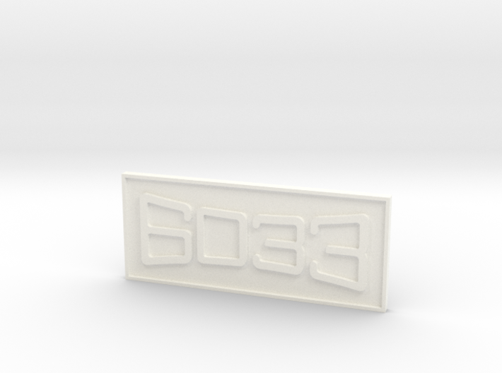 """CNO&TP As-11 #6033 3/4"""" Scale Number Plate 3d printed"""