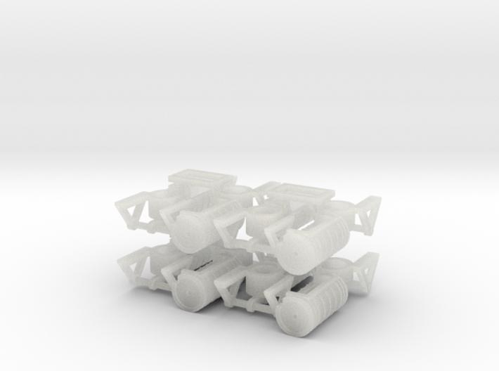 ZB (H0e) - Bremsaggregate für 8 4ax-Wagen 3d printed