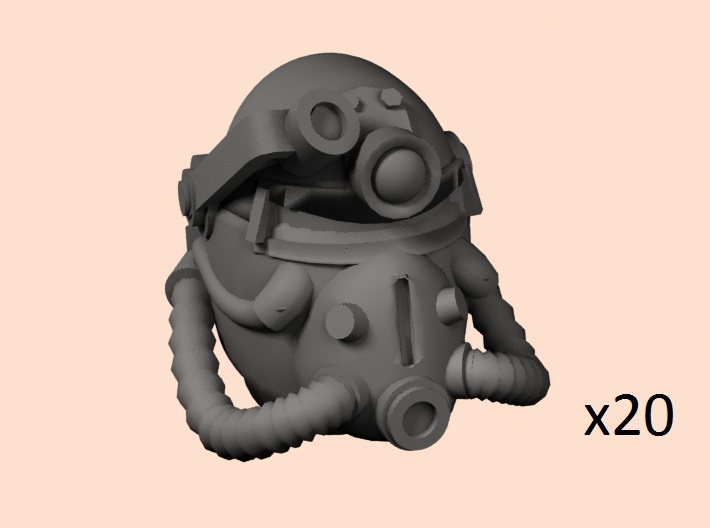 28mm Wastefall PA helmet for SM conversion 3d printed