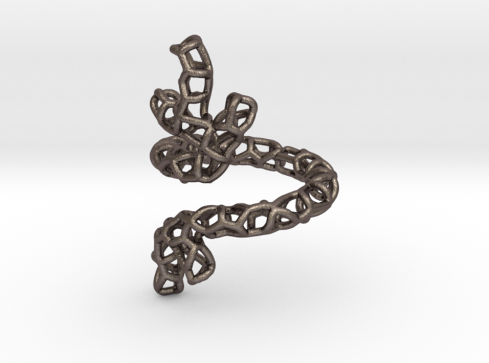Red Coral Ring sz 7 3d printed