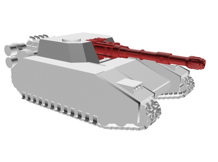 Eruption cannon for superheavy tank 3d printed