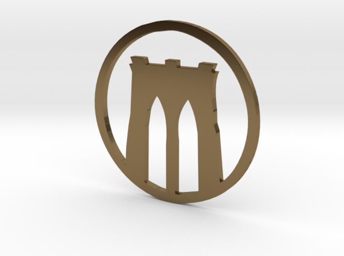 Brooklyn Bridge pendant 3d printed