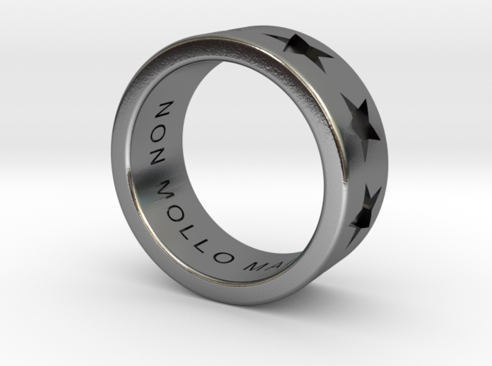 """Star / """"Never Give Up"""" Ring 3d printed"""
