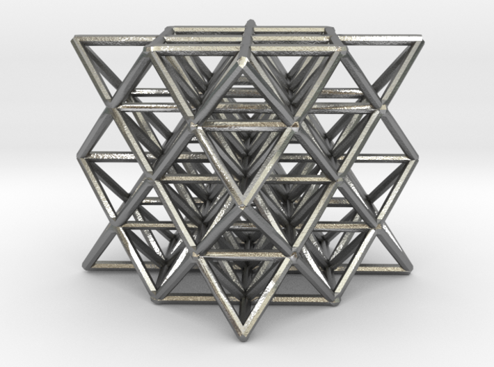 64 Tetrahedron Grid small 3d printed