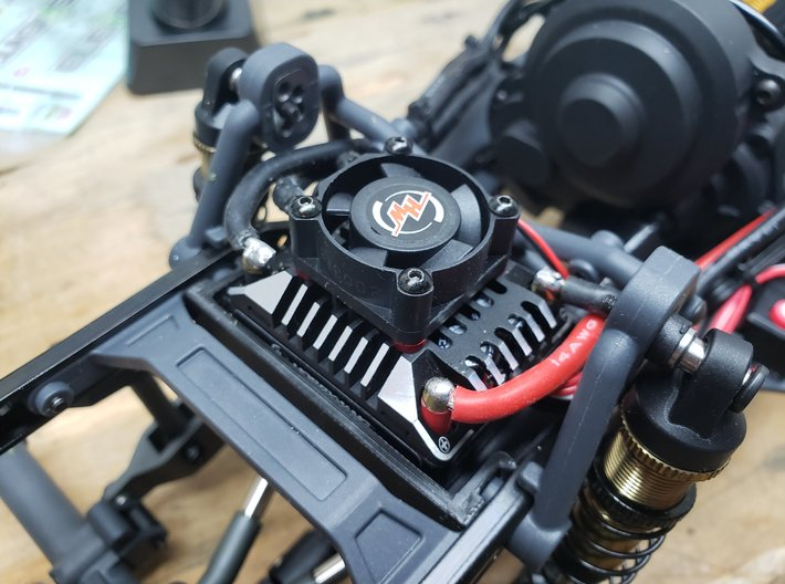 ESC Relocation tray - Element Gatekeeper RC Truck 3d printed Fitted with a Hbbywing AXE ESC
