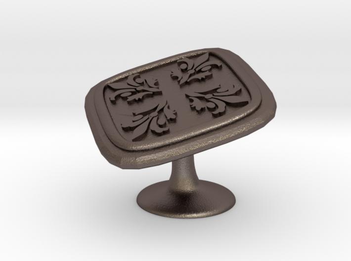 Metal Cufflink ver.2 3d printed