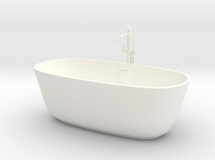 1:24 Bath tub with shower 3d printed