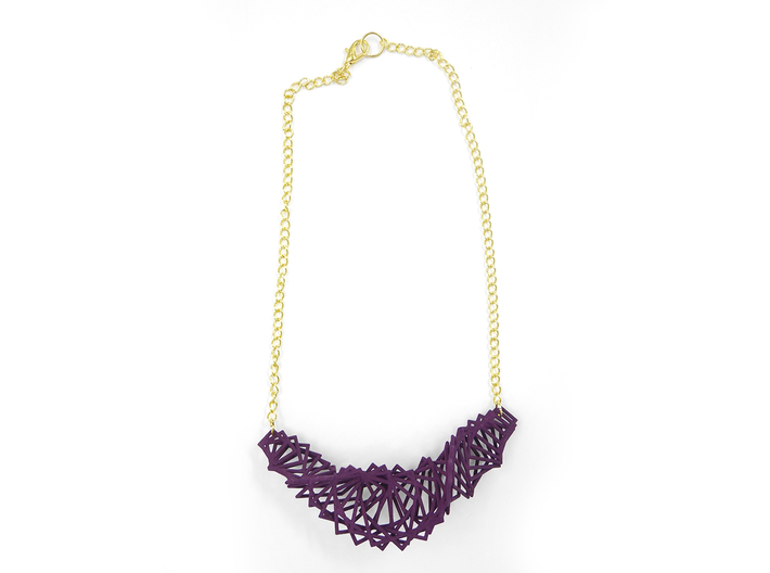 Arithmetic Necklace 3d printed Custom Dyed Nylon (Eggplant)