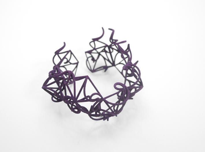 Aster Cuff 3d printed Custom Dyed Colors (Midnight)