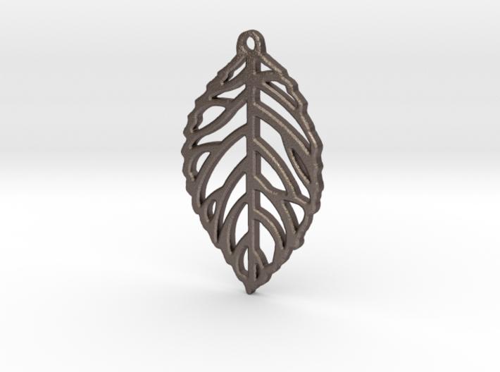 Leaf Pendant / Earring 3d printed