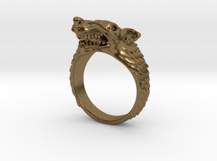 Size 7 Direwolf Sigil Ring 3d printed