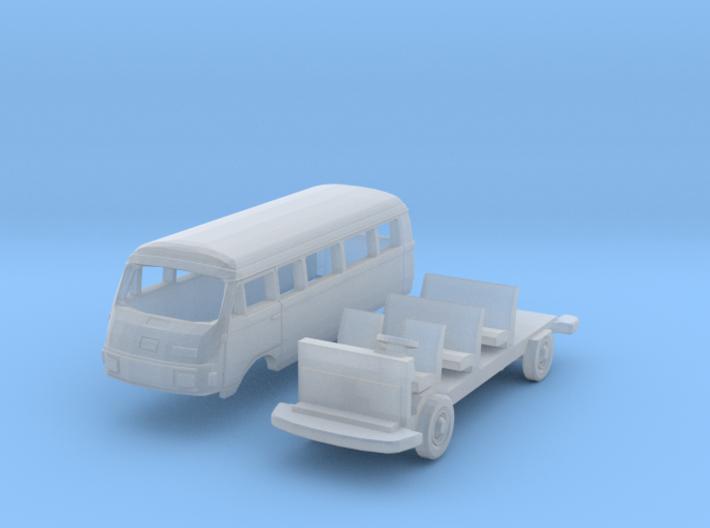 Hanomag-Henschel F25 Kombiwagen Lang (TT 1:120) 3d printed