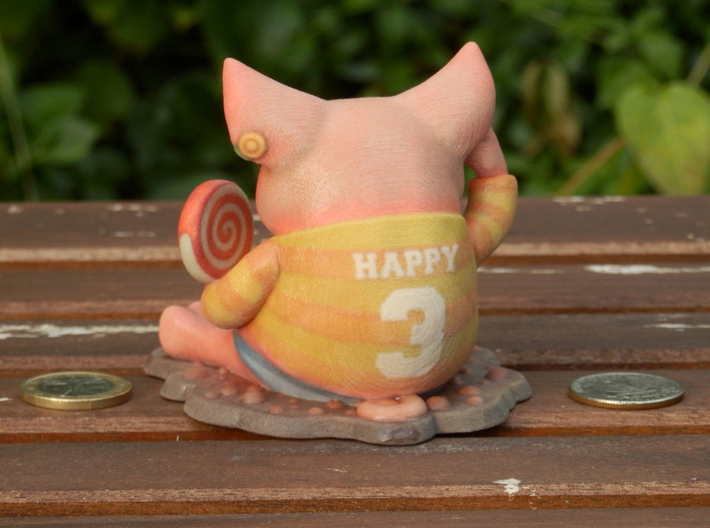 Happy as a Pig... 3d printed
