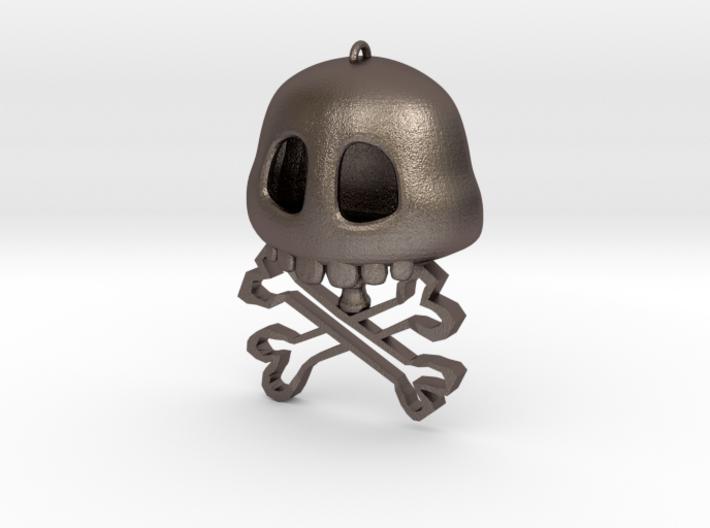 Merman Cross Bones - Steel 3d printed