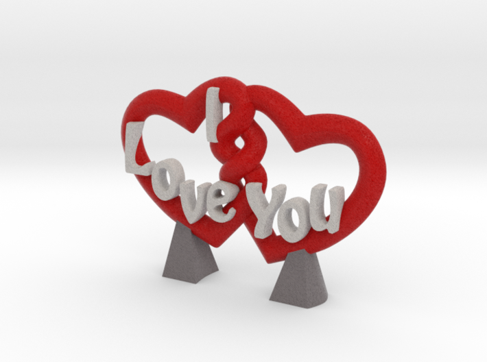 Embrace of Hearts 3d printed