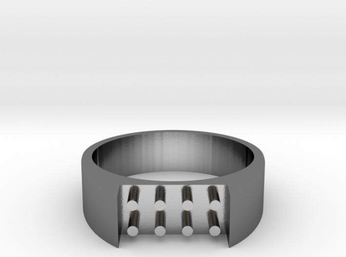 8-bit ring (US7/⌀17.3mm) 3d printed