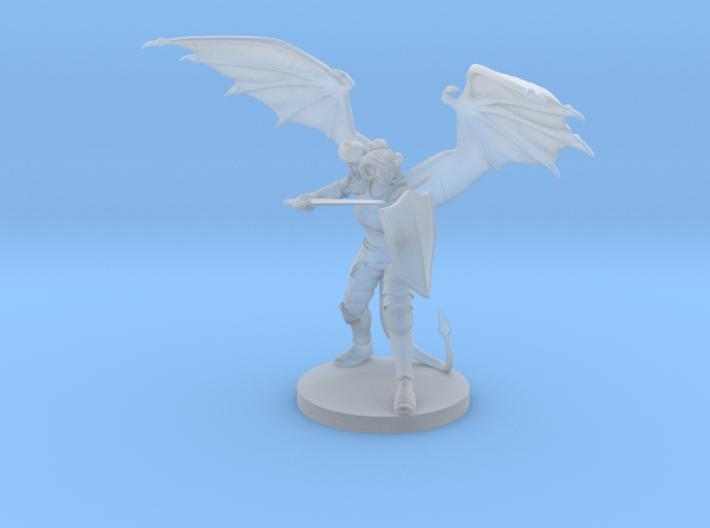Tiefling Female Paladin Winged 3d printed