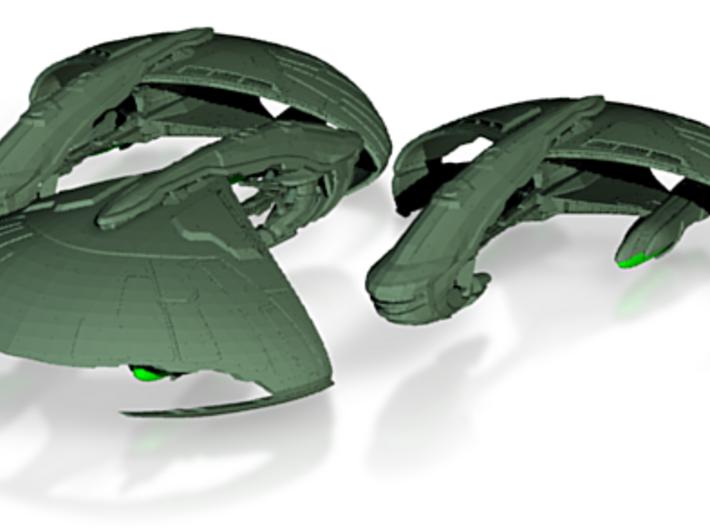 Kerchan Class Refit Cruiser Three Ships 3d printed