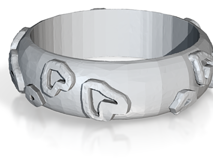 Leopard Print Ring - Sz. 9 3d printed