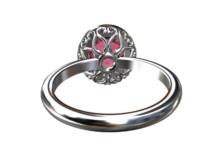 Ab048 Oval Setting 3d printed