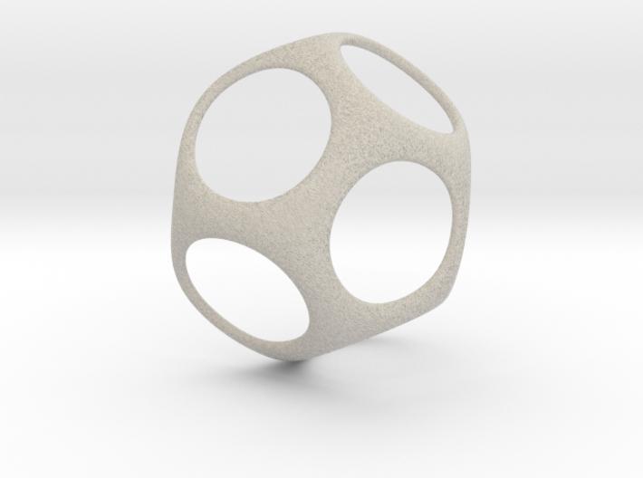 Modern Geometric Pendant 3d printed
