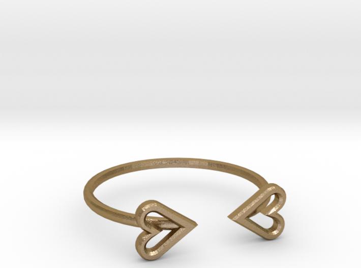 FLYHIGH: Open Heart Skinny Bracelet 3d printed