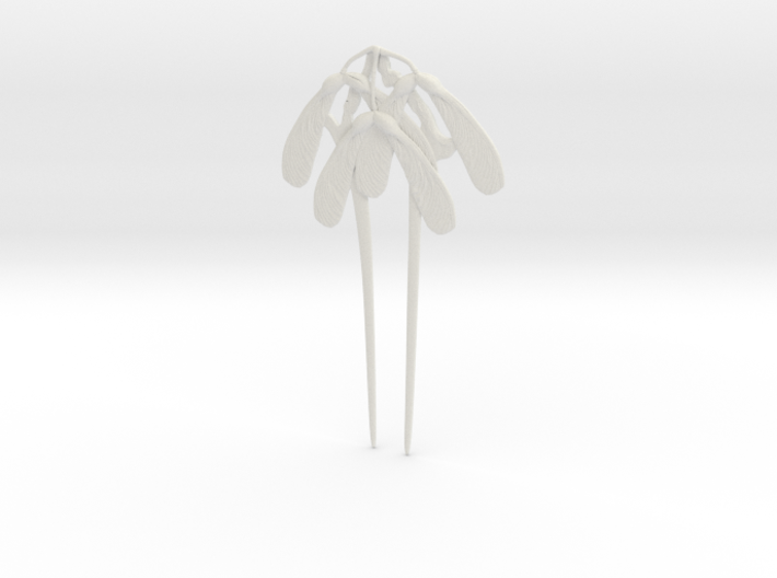 Gaillard Maple Seed Hair Pin 3d printed