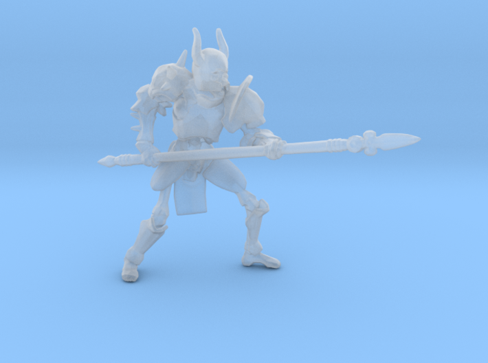 Skeleton Heavy Armor Spear miniature fantasy dnd 3d printed