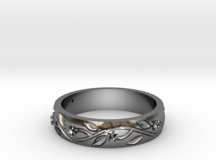 AB053 Floral Band 3d printed
