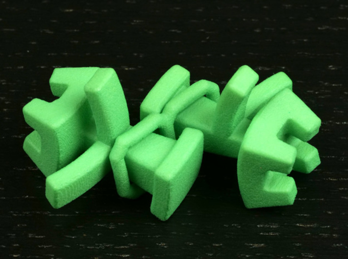 Octahedral holonomy maze rooks 3d printed