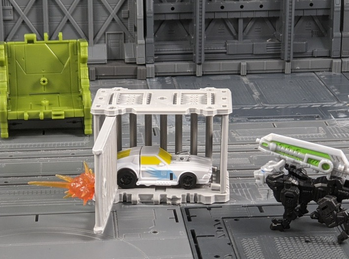 TF Seige Ravage Cage Kit 3d printed Door can swing out