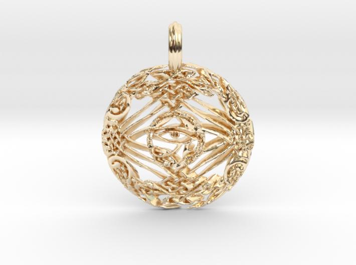 celtic eye of horus 3d printed