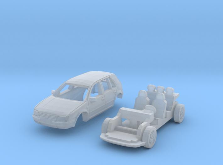 Volkswagen Golf 5-Türer (N 1:160) 3d printed