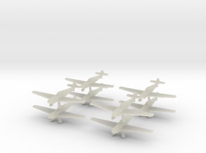 Bf109t-350-wheels-x8 3d printed