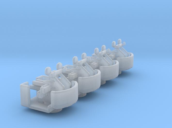 1/350 Scale QF-2 2 Pounder 4 Barrelled Pom Pom Hea 3d printed