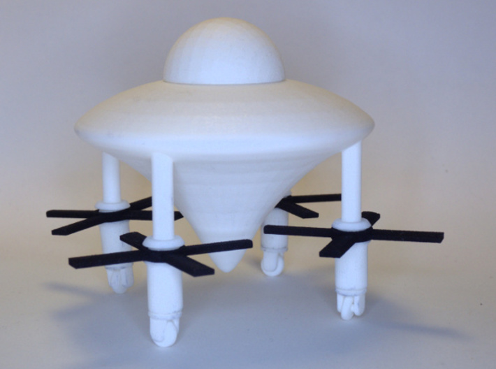 Model of Ancient Astronaut Spaceship of Ezekiel 3d printed propeller are are sold separately