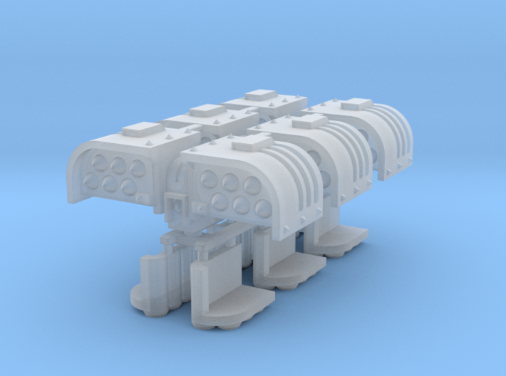 Cyclone Missile Launcher x3 sprue 3d printed