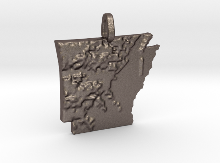 Arkansas Topography Pendant 3d printed