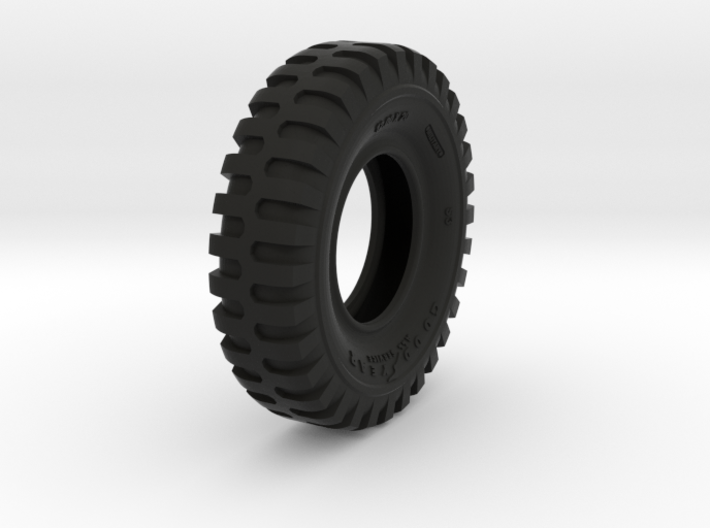1-16 Military Tire 1200x20 w holes 3d printed