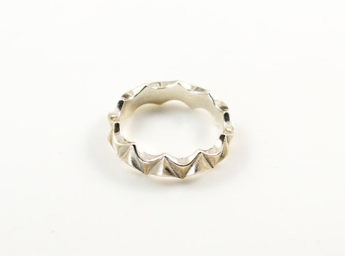 Scallop Ring 3d printed