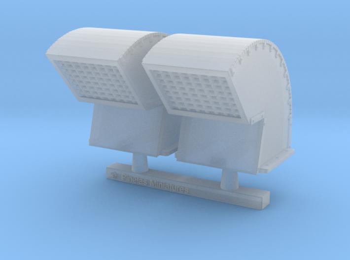 Gooseneck Exhaust Vent 01. 1:24 Scale 3d printed
