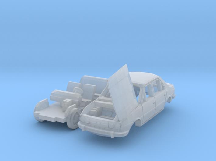 Škoda 120 LS mit offenem Kofferraumdeckel (N 1:160 3d printed